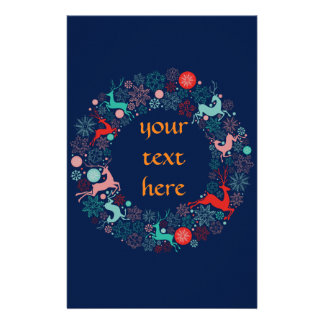 merry christmas and happy newyear customized stationery