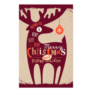 merry christmas and happy newyear personalized stationery