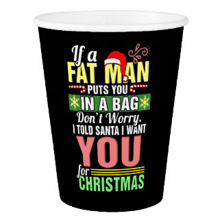 Merry Christmas and Santa Claus Paper Cup