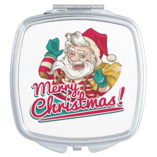 Merry Christmas and Santa Claus Vanity Mirror
