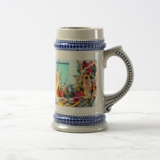 Merry Christmas angels trumpeting Beer Stein