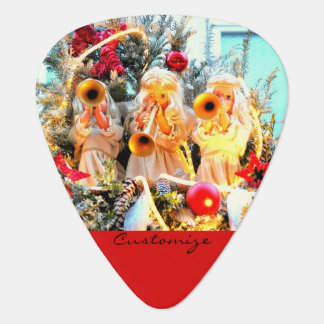 merry christmas angels trumpeting guitar pick