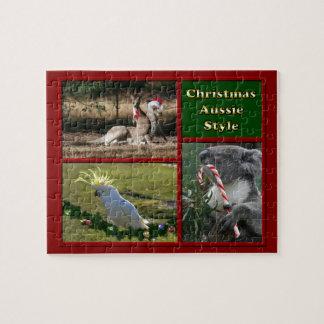 Merry Christmas Aussie Animals Puzzles