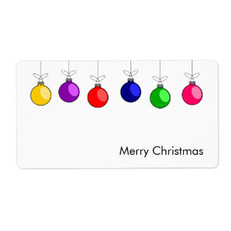 Merry Christmas Avery Label Shipping Label