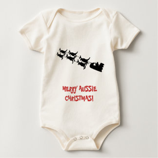 Merry Christmas Baby Apparel, Australian Theme. Baby Creeper