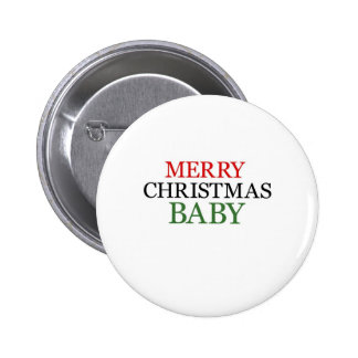 Merry Christmas Baby Pinback Buttons