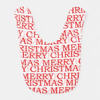 Merry Christmas Baby Bib
