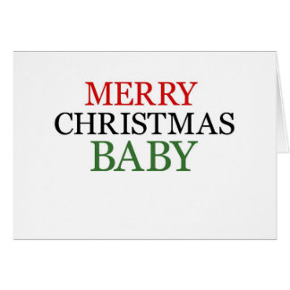 Merry Christmas Baby Greeting Card