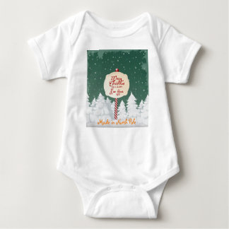 Merry Christmas baby clothes, North Pole Baby Bodysuit