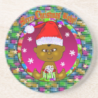 Merry Christmas Baby Coaster