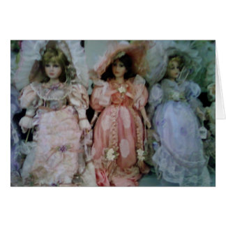 MERRY CHRISTMAS BABY DOLL GREETING CARD