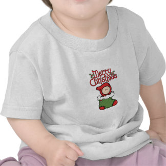 Merry Christmas - Baby in Stocking T-Shirt