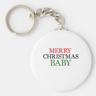 Merry Christmas Baby Key Chains