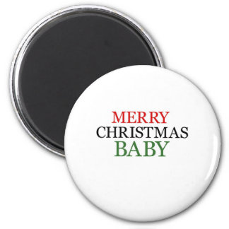 Merry Christmas Baby Magnet