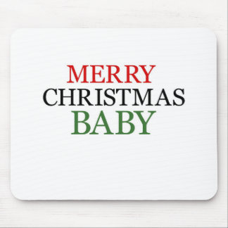 Merry Christmas Baby Mouse Pads