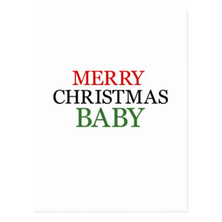 Merry Christmas Baby Post Card