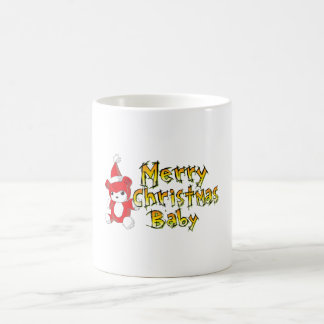 Merry Christmas Baby Red Teddy Bear Pillow Decals Mugs