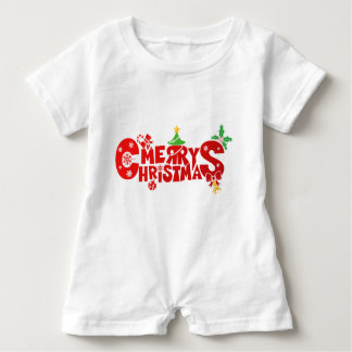 Merry Christmas baby romper Baby Bodysuit