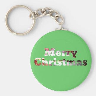 Merry Christmas Bacon Print Key Chains