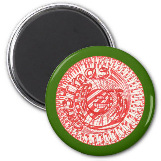 Merry Christmas ball candy canes magnets