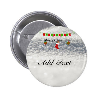 Merry Christmas banner template 6 Cm Round Badge
