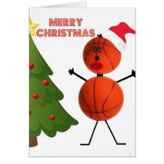 Merry Christmas Basketball Greeting Card