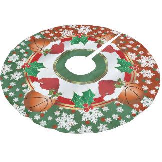 Merry Christmas Basketball Lovers Brushed Polyester Tree Skirt