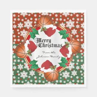 Merry Christmas Basketball Lovers Paper Napkins