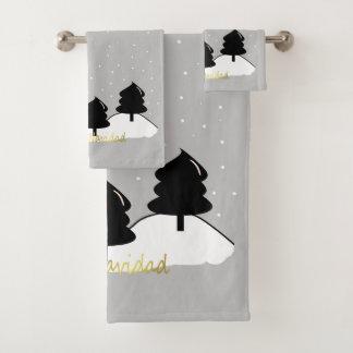 Merry Christmas Bath Towel Set
