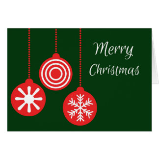Merry Christmas Bauble Card