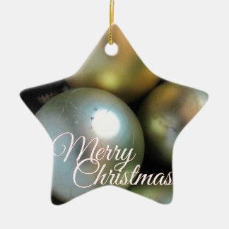 Merry Christmas Baubles Ceramic Star Decoration