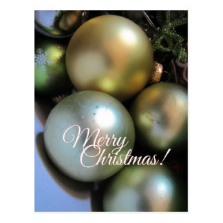 Merry Christmas Baubles Postcard