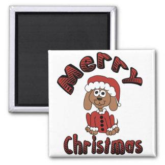Merry Christmas Beagle Refrigerator Magnet