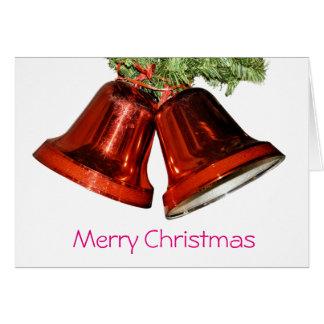 Merry christmas bells card