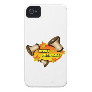 Merry Christmas Bells iPhone 4 Case