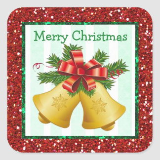 Merry Christmas Bells Holiday Stickers