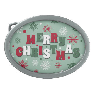 Merry Christmas Belt Buckles