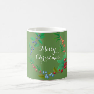 Merry Christmas Berry Wreath 11 oz Classic Mug