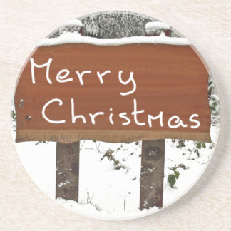Merry Christmas Beverage Coasters