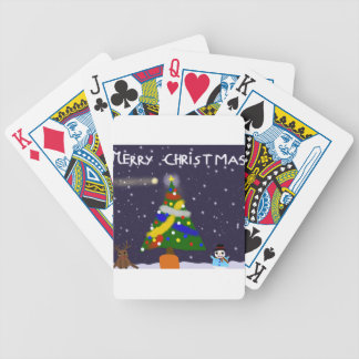 Merry Christmas Bicycle Playing Cards