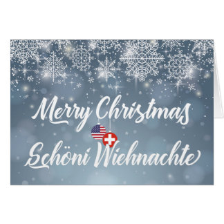 Merry Christmas Bilingual Swiss American Card