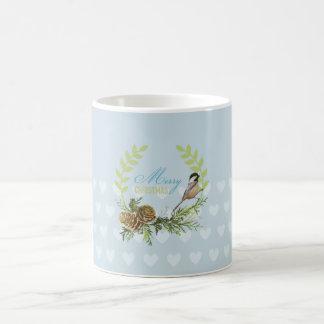 Merry Christmas birds, pine cones Xmas gifts Coffee Mug