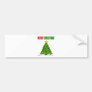 Merry Christmas Bling Bumper Stickers