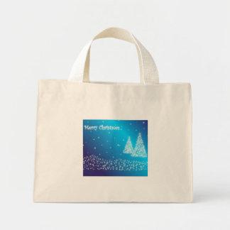 merry christmas blue bag
