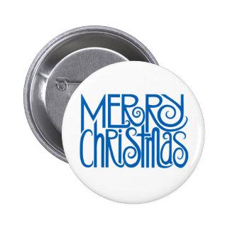 Merry Christmas blue Button