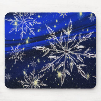 Merry Christmas  blue Mouse Pad