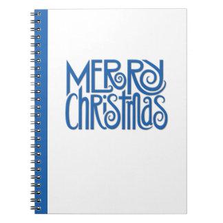 Merry Christmas blue Notebook