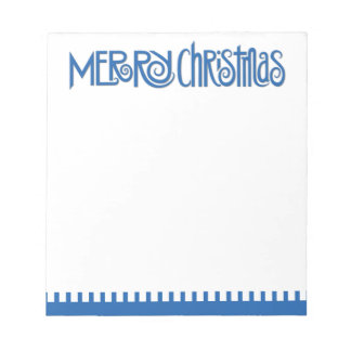Merry Christmas blue Notepad