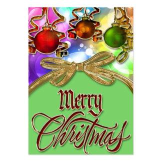 Merry Christmas Bokeh Lights & Baubles Business Card