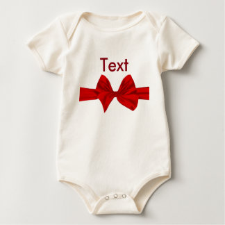 Merry Christmas Bow Baby Creepers Baby Bodysuits